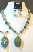 Eilat Stone Necklace with Reversible Pendant