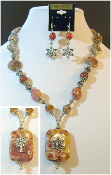 Mojave Jasper Statement Necklace with Reversible Pendant