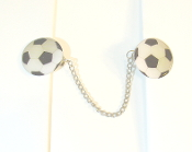 Sports Themed Tallit Clips - Soccer Balls (Large)