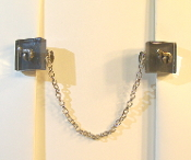 Smokey Gray Glass Tallit Clips with Chai Charm