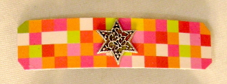 Hot Squares Pattern Barrette