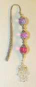 Purple, Pink, Magenta Crystal Bookmark