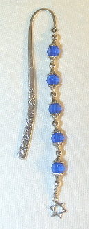 Sapphire Blue Crystal Bookmark