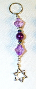 Purple Crystals and Pearl Key Chain