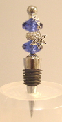 Sapphire and Sparkle Bead Wine Bottle Stopper