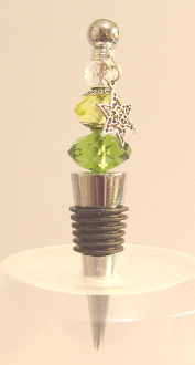 Green, Lime, and Clear Wine Bottle Stopper