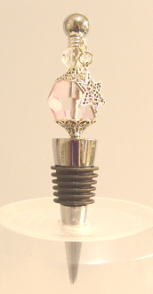 Soft Pink Wine Bottle Stopper