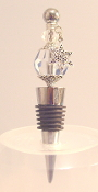 Light Sapphire Wine Bottle Stopper