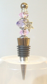Purple and Lilac Crystals Wine Bottle Stopper