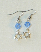 Light Sapphire Swarovski Crystal Earrings