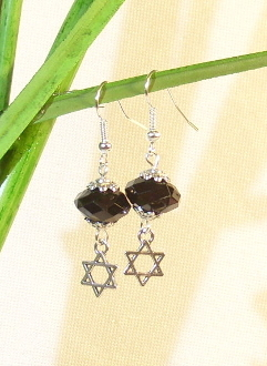 """Black Diamond"" Acrylic Earrings"