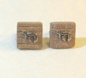 Chai Charm on Western Wall Cuff Links