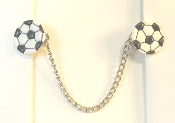 Sports Themed Tallit Clips - Soccer Balls (Smaller)