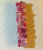 Pink Beaded Mezuzah