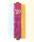 Hot Pink Bling Mezuzah