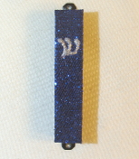 Deep Blue Bling Mezuzah