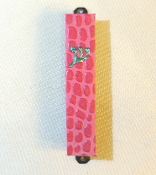 Pink Alligator Mezuzah