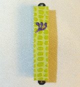 Lime Alligator Mezuzah
