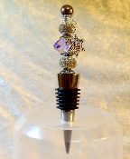 Indigo with Sparkle Beads Wne Bottle Stopper