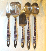 Beaded Serving Utensils - Grapes