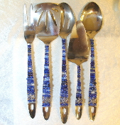 Beaded Serving Utensils - Evening Star