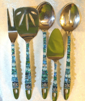 Beaded Serving Utensils - Mediterranean