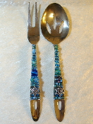 Beaded Salad Servers - Mediterranean