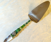 Beaded Dessert Server - Green Tree of Life