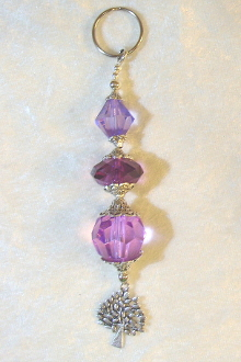 Purple Shades Crystal Key Chain