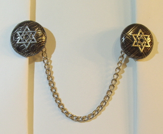 Silver Alligator (Imitation) Tallit Clips