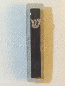 Black Glass and Steel Mezuzah