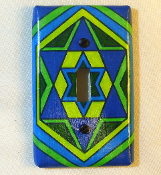 Star of David Light Switch Plate