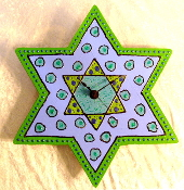 Star of David Clock