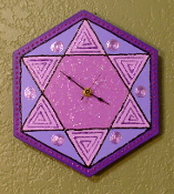 Star of David Hexagon Clock