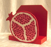 Pomegranate Napkin Holder