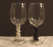 Bride and Groom Beaded Wine Glasses