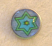 Star of David 4 - Snap Button