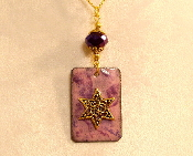 Copper Enamel Necklace - Purples