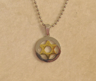 Star of David Necklace - Silver and Gold