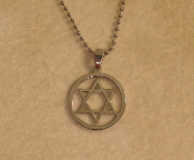 Star of David Necklace - Silver and Silver