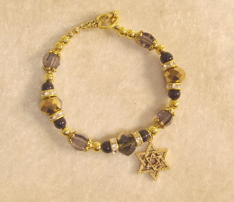 Gold and Charcoal Crystals with Black Onyx II