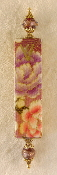 Elegant Mezuzah - Purple and Pink Carnations