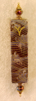 Elegant Mezuzah - Waves of Silver and Gold