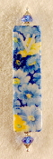 Elegant Mezuzah - Blue and Yellow Daisies