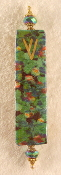 Elegant Mezuzah - Monet's Field of Flowers