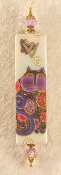 Elegant Mezuzah - Flower Cat