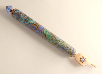 Elegant Yad - Blue and Green Paisley