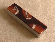 Sports Themed Mezuzah - Football