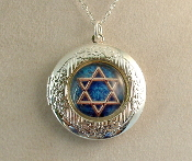 Lockets - Deep Blue Star of David