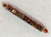 Elegant Mezuzah - Brown with Gold Circles of Life